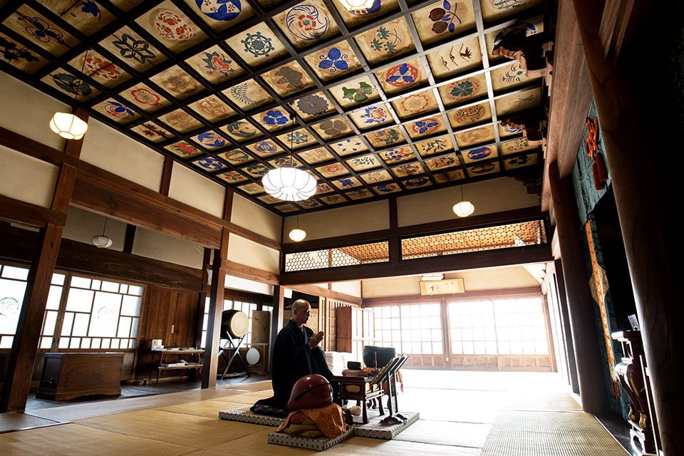 栖足寺の天井絵